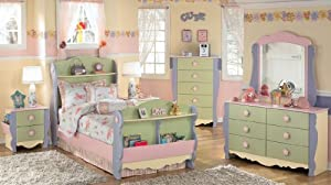 Multi Color Pastels Twin Bedroom Set by Ashley Furniture