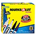 Marks-A-Lot Desk/Pen Style Dry Erase Marker Combo Pack, Assorted, Box of 24 (29870)