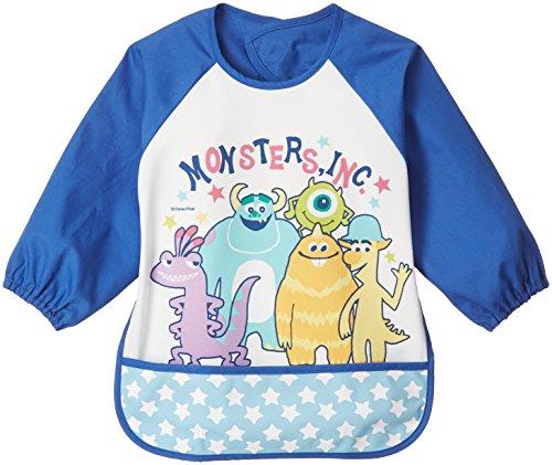 DISNEY/Pixar モンスターズインク 乳幼児 長袖エプロン ブルー ポリエステルスムス×ブロー A2B62
