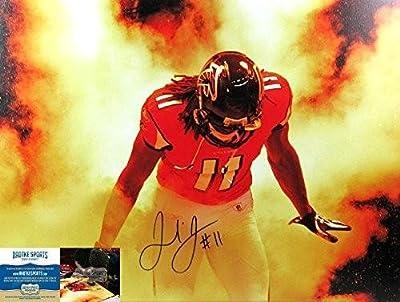 Julio Jones Autographed/Signed 24x32 Atlanta Falcons Wrapped NFL Wall Mount Canvas - Autographed NFL Art