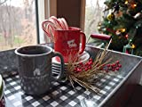 """Hallmark Home Holiday Mug, Red """"Let The Yule Times Roll"""" with Cute Car and Tree"""