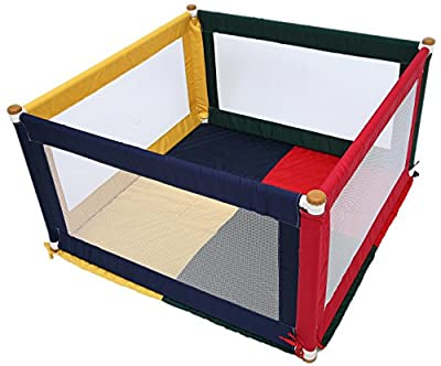 TikkTokk Pokano Fabric Playpen/Mat (Square, Colourful) by TikkTokk