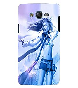 ColourCraft Beautiful Girl Design Back Case Cover for SAMSUNG GALAXY J5