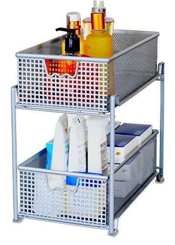 storage basket organizer sliding drawer kitchen under. Black Bedroom Furniture Sets. Home Design Ideas