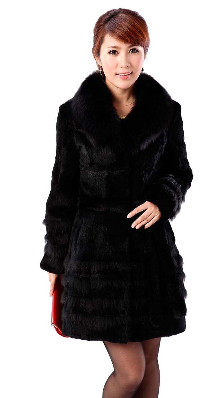 Queenshiny Damen Jacke schwarz