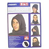 2 Pack Warm Winter Hot Hoodz 6 in 1 Black/Navy and Black/Grey Beanie, Scarf, Balaclava, Face Maskby Globatek