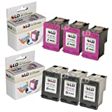 LD © Remanufactured Replacements for Hewlett Packard (HP 61XL) Set of 6 High Yield Ink Cartridges Includes: 3 CH563WN Black, and 3 CH564WN Color for use in HP Deskjet 1000, 1010, 1050, 1051, 1055, 1056, 2050, 2510, 2512, 2514, 2540, 2542, 3000, 3050, 3050A, 3051A, 3052A, 3054, 3056A, 3510, 3511, 3512, 3516 & ENVY 4500, 4504, 5530, 5531 & Officejet 4630, 4632, 4635 Printers ~ LD Products