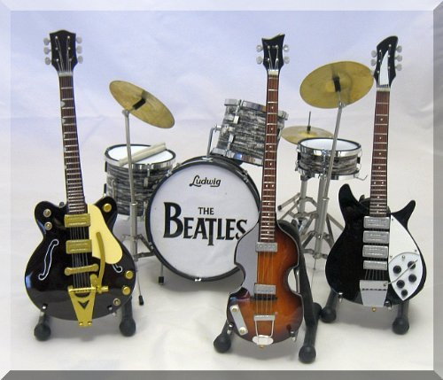 Sale alerts for ARTSTUDIO35 BEATLES SET Miniature Guitar Drumset JOHN, GEORGE, PAUL, RINGO - Covvet