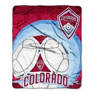 Colorado Rapids MLS Royal Plush Raschel Blanket (50x60) by Northwest