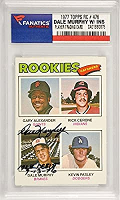 Dale Murphy Atlanta Braves Autographed 1977 Topps Rookie #476 Card with MLB Debut 9-13-76 Inscription - Fanatics Authentic Certified