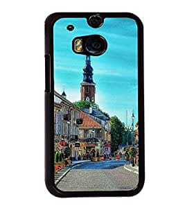 Fuson Premium 2D Back Case Cover Lovely place With blue Background Degined For HTC One M8::HTC M8