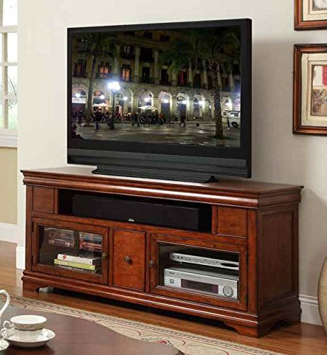 62 in. TV Cabinet in Classic Cherry Finish