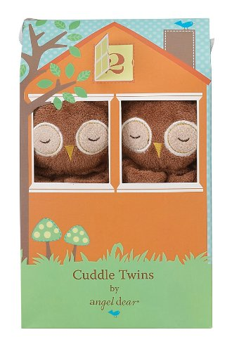 Angel Dear Cuddle Twin Set, Brown Owl