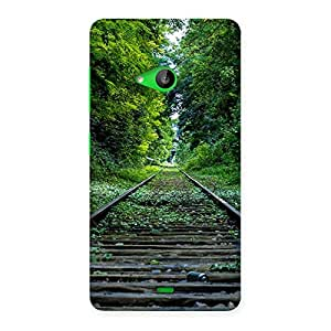 Special Beautiful Track Green Back Case Cover for Lumia 535