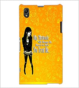PrintDhaba Girl with Attitude D-1123 Back Case Cover for SONY XPERIA Z1 (Multi-Coloured)