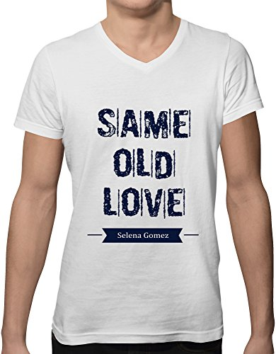 selena gomez same old love new short sleeve v neck men's t shirt