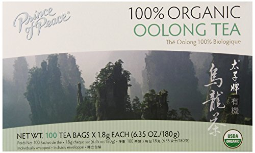 Prince of Peace Organic Tea, Oolong, 100 Tea Bags (Tea Packaging Bags compare prices)