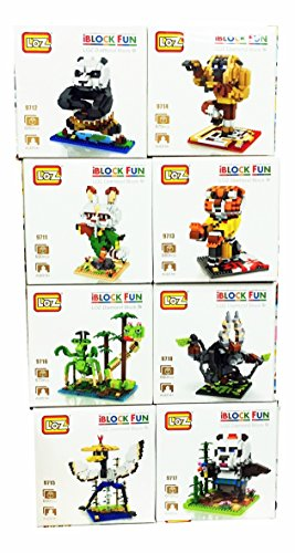 Kung Fu Panda 3 3D Toys Nanoblocks Figures DIY Building Blocks Bricks Games 8 Set 5430 Pieces Gift with Original Box