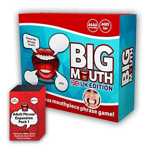 Big Mouth Adult UK Edition Mouthpiece Board Game Party Phrase Card Game Mouth Guard Challenge