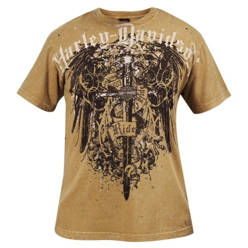 Harley-Davidson Mens Splatter Wings Short Sleeve T-Shirt (Large)