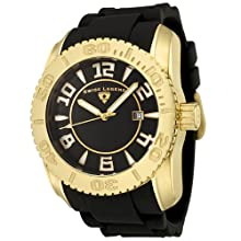 Swiss Legend Men s 20068-YG-01 Commander Collection Yellow Gold Ion-Plated Black Dial Watch
