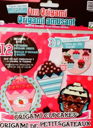Fun Origami Set ~ Cupcakes with 3D Colorful Playmat - 1