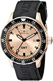 Invicta Men's 11257 Specialty GMT Rose Gold Dial Black Polyurethane Watch