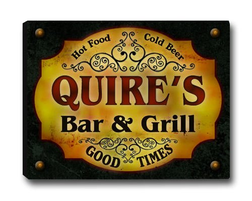 Quire Family Bar & Grill Stretched Canvas Print s quire 947131