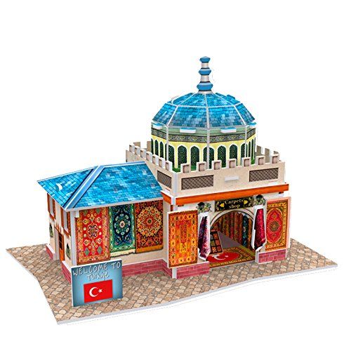 "Cubicfun Cubic Fun 3d Puzzle Model 26pcs Turkiye Flavor Carpets Shop 6.5"" - 1"