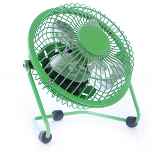 Generic USB 5 Inches Angel Adjustable Aluminum Leaves Personal Cool Desk Fan Green