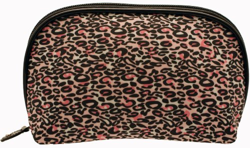 cheetah print makeup. Modella By Babyliss Cheetah Print Round Top Cosmetic Purse