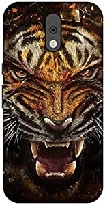 The Racoon Grip printed designer hard back mobile phone case cover for Motorola Moto G Plus 4th Gen. (tiger)