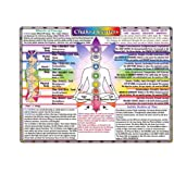 CHAKRA CENTERS CHART very detailed poster 24X36 new age health TOP NOTCH