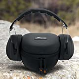 Earmuff Case, roocASE Hard Case for ClearArmor 141001 Safety Ear Muffs 34dB NRR Shooters Hearing Protection and Peltor Sport Tactical 100 Electronic Hearing Protector with Mesh Pocket