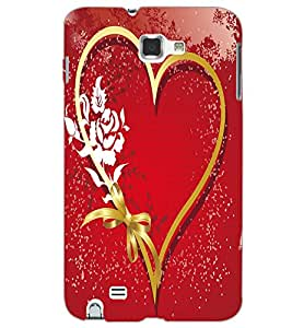 SAMSUNG GALAXY NOTE 2 HEART Back Cover by PRINTSWAG