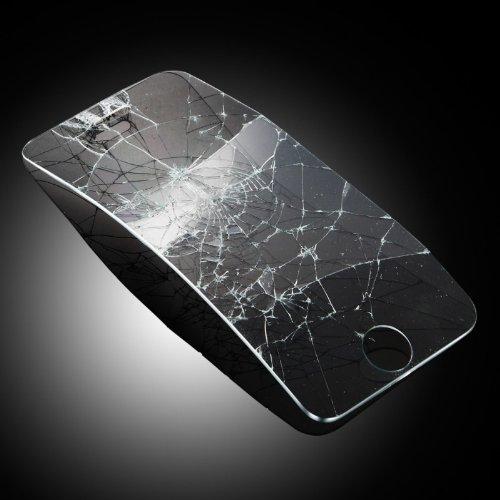 iPhone5S/5C/5用 強化ガラス GLASS-M/硬度9H カッターでも傷つかない Omix限定モデル アルミホームボタン付 日本語マニュアル付属