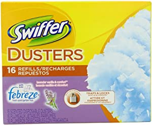 Swiffer Dusters Disposable Cleaning Dusters Refills, Febreze Lavender Vanilla & Comfort Scent, 16-Count (Packaging May Vary)