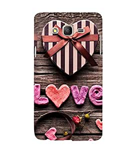 Love 3D Hard Polycarbonate Designer Back Case Cover for Samsung Galaxy On7 G600FY :: Samsung Galaxy On 7 (2015)