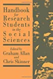 img - for Handbook for Research Students in the Social Sciences book / textbook / text book