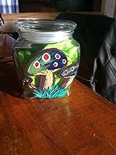 Hand Painted Stash Jar