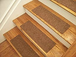 Essential Carpet Stair Treads - Style: Favorite - Color: Maple Brown - Size: 24\