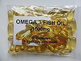 The Vitamin - Omega 3 Fischöl 1000mg (60 Kapseln - Im Beutel)