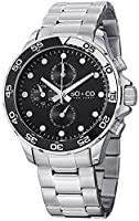 SO&CO York Men's 5014.1 Yacht Club Analog Display Analog Quartz Silver Watch from SO&CO New York