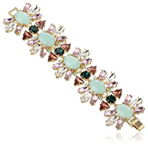 Juicy Couture Multi-Stone Cluster Flex Bracelet, 7.26