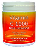 Vitamin C 1000mg TIME RELEASED 500 Tabletten Made in Germany glutenfrei Premium Qualität