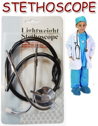 Realistic Kids Stethoscope -Fun Educational Toy For Kids! Lightweight Single-Head Nursing Stethoscope (Colors May Vary)