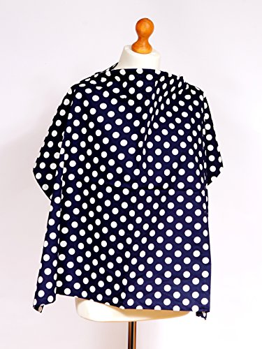 Palm And Pond Breastfeeding Cover - Navy Blue & White Spots Standard front-709958