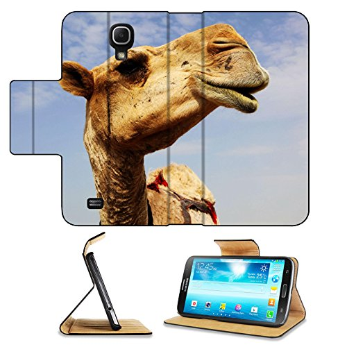 Samsung Galaxy Mega 6.3 Flip Case A close up view of the head of a dromedary camel against a slightly cloudy sky IMAGE ID 6025115by Liili Customized Premium Deluxe Pu Leather generation Accessories HD Wifi 16gb 32gb Luxury Protector Case
