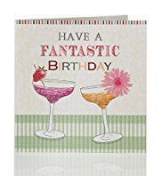 Value Cocktail Glasses Birthday Card