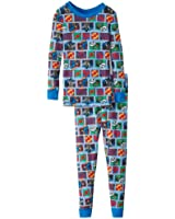 Komar Kids Little Boys' BB Justice League Tight Fitting Thermal Sleep Set